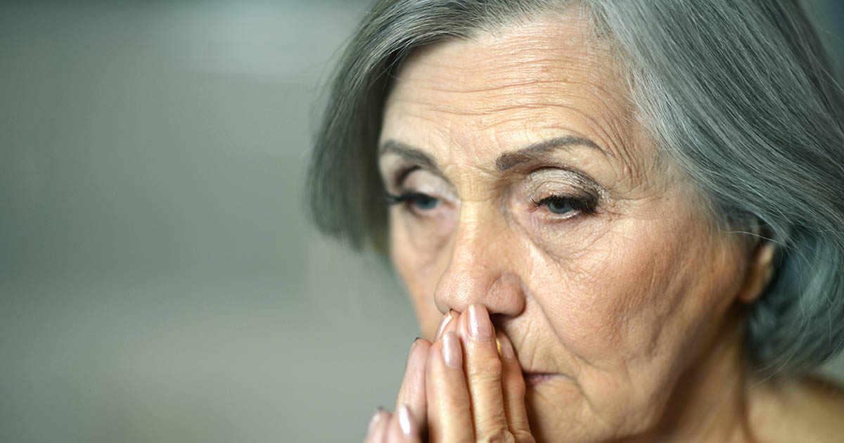Fatigued older woman
