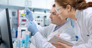 Medical research team in a medical lab